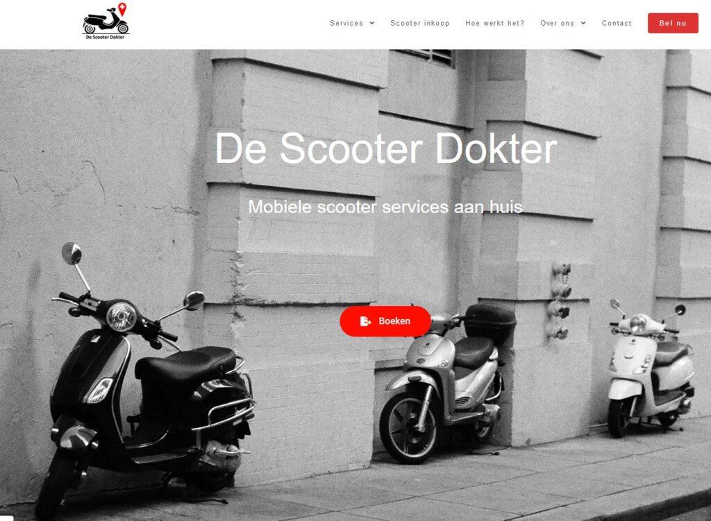 Website screenshot DeScooterDokter
