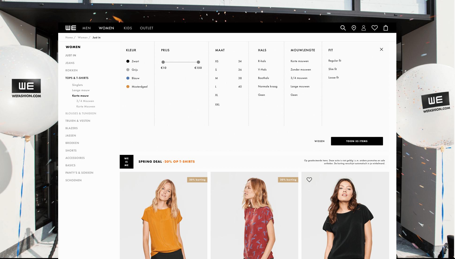 WE-Fashion webshop